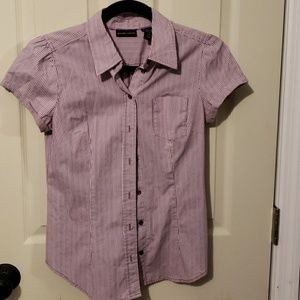 EUC NY&C button down short sleeve dress shirt